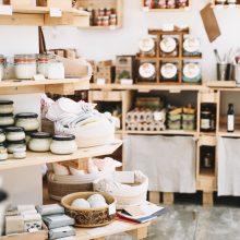 Zero,Waste,Shop,Interior,Details.,Wooden,Shelves,With,Different,Food