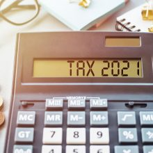 Word,Tax,2021,On,Calculator.,Business,And,Tax,Concept,On