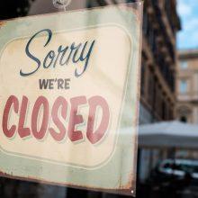 Sorry,We're,Closed,Shop,Window,Door,Notice,Board,abandoned,Shutdown,Cafe
